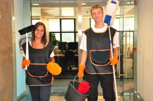 Team of Office Cleaners